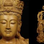 仏師造 極細密彫刻 特大104cm 木彫 観音立像